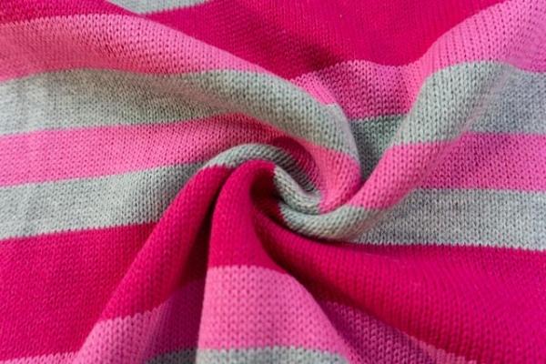 Baumwoll Streifen Strick 100% Baumwolle bordeaux/berry-rosa-grau Ökotex100