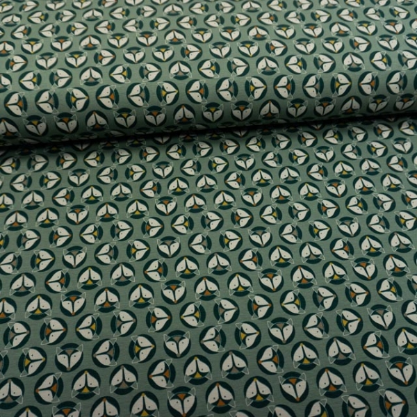 Baumwolljersey Fox Buttons dusty mint