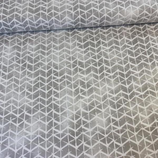 Baumwollwebware Italienische Kollektion Grafisch grau-weiß Ökotex 100