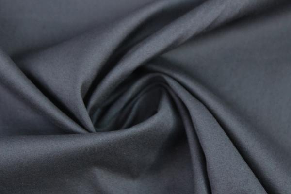 Baumwolle Poplin Stretch Uni knitterarm dark navy Ökotex 100