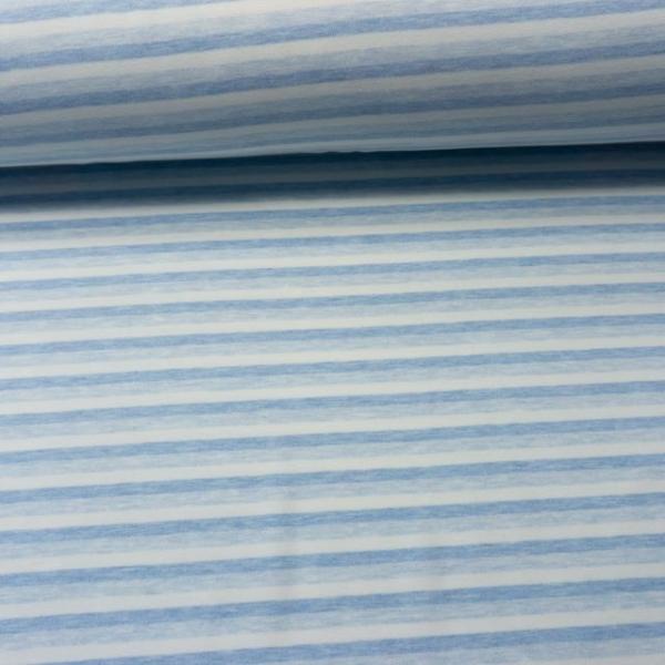 Interlock-Baumwolljersey Soft Touch Streifen blau