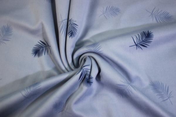 Alpenfleece Sweat Leaves jeansblau UNI Ökotex 100