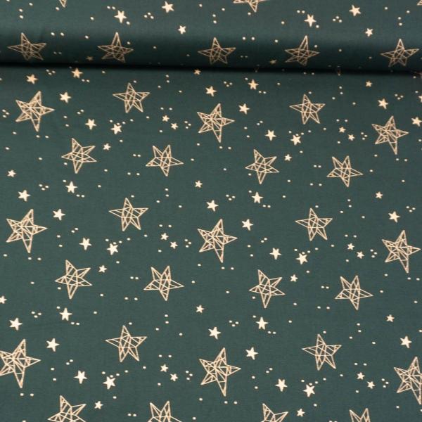 Baumwollwebware Christmas Star Sign tannengrün