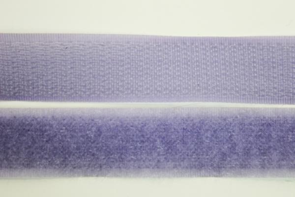 Klettverschluss Schlaufen und Widerhaken flieder 20mm