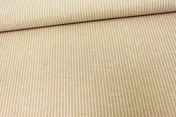 Leinen Stripes senf meliert Ökotex 100