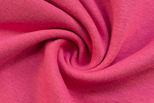 Bündchen Feinstrick UNI pink-coral -hohe Sprungkraft- Ökotex 100