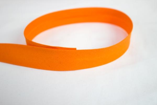 Elastisches Schrägband vorgefalzt orange Ökotex 100