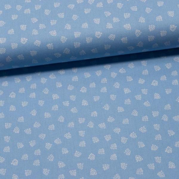 Baumwollwebware Mini Anchor hellblau