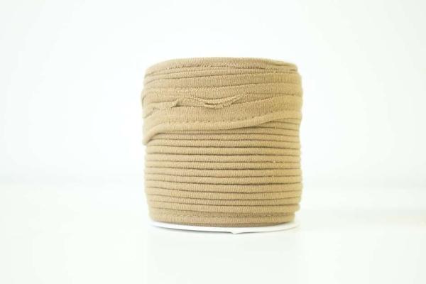 Jersey Paspelband sand elastisch