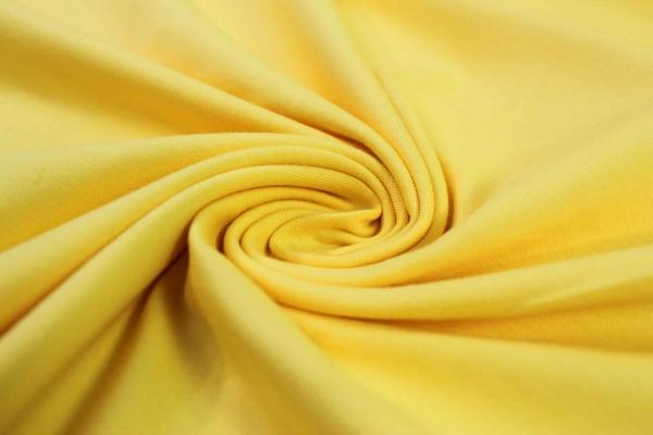 Organic Baumwolljersey Uni gelb Ökotex 100