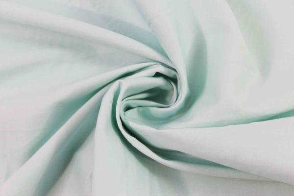 Baumwolle Poplin Stretch Uni knitterarm mint Ökotex 100