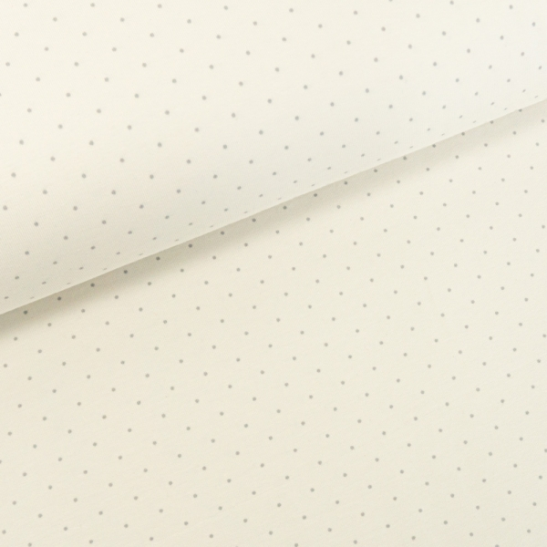 Baumwolljersey Small Dots ecru