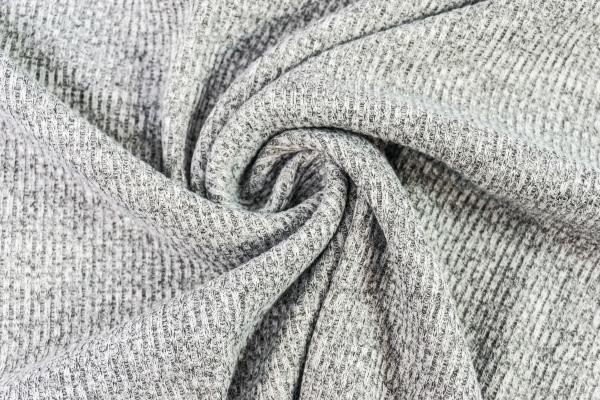 Strick-Jacquard Fine Knitting Stripes hellgrau meliert Ökotex 100