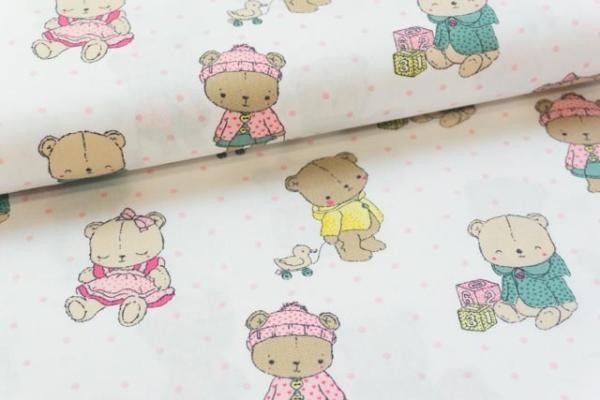 Baumwolle/Webware Baby Bear weiß Ökotex 100