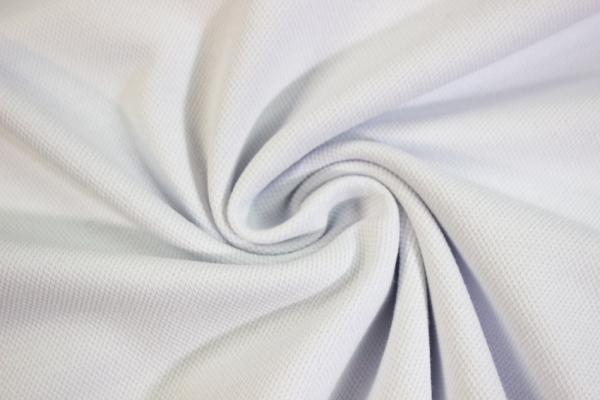 Poloshirt Baumwolljersey Uni weiß Ökotex 100