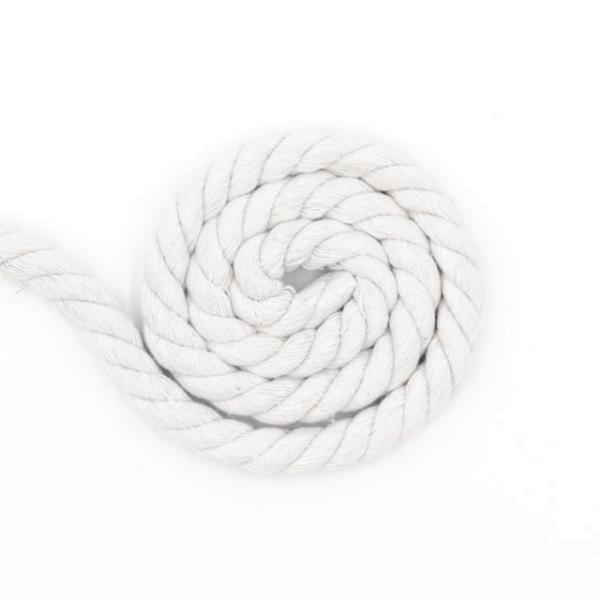 Soft Kordel 10mm gedreht weiß