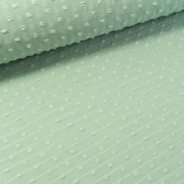 Plissee Chiffon Dots dusty mint