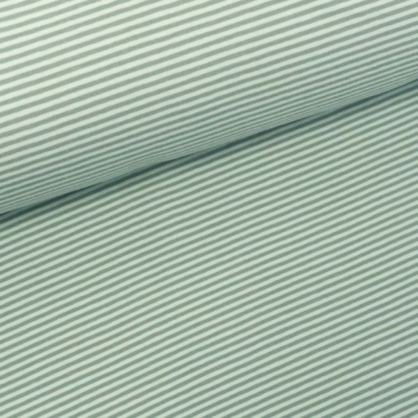 Baumwolljersey Ringel beige-dusty mint