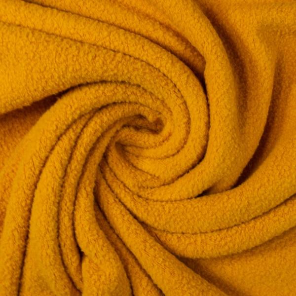 Baumwollfleece senfgelb