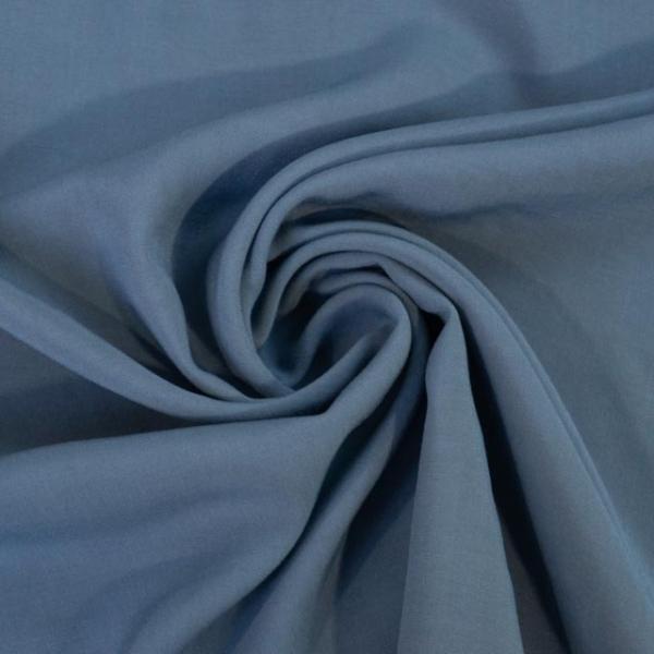 Viskosewebware Kunstseide Uni jeansblau