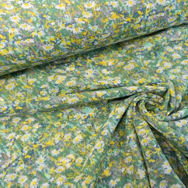 Voile Gänseblümchenwiese dusty mint