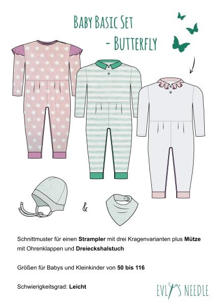Papierschnitt Kinderset BUTTERFLY by EvLis-Needle