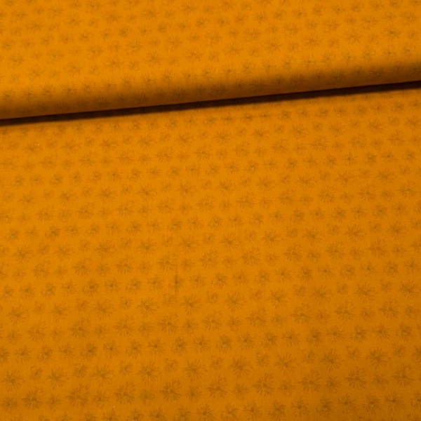 Baumwollwebware Popeline Pusteblume senfgelb