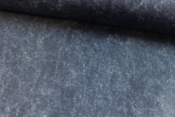 Outdoorstoff marmorierter Look jeansblau dunkel