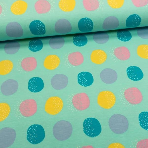 Baumwolljersey Big Dots mint