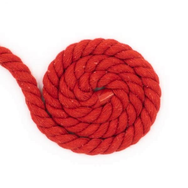 Soft Kordel 8mm gedreht rot