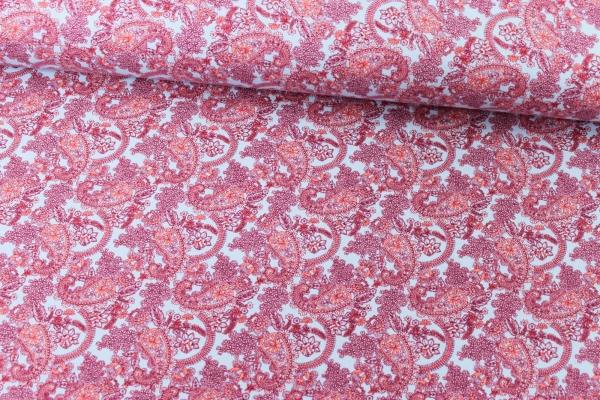 Sweat unangeraut Paisley Hellblau-pinkbeere Ökotex 100