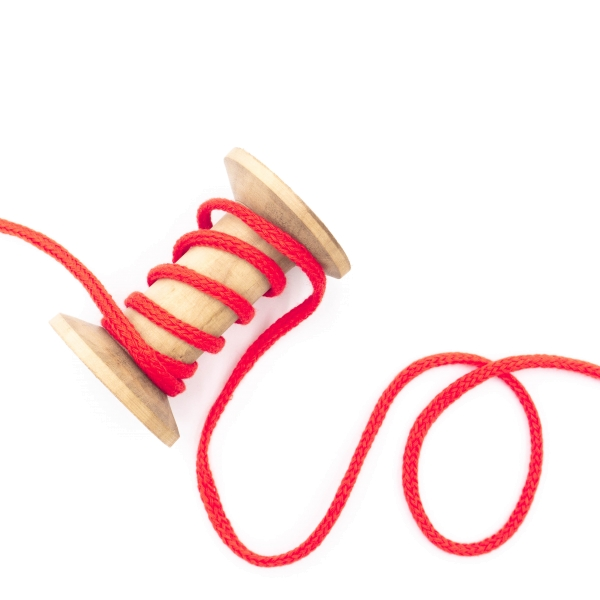 Kordel geflochten 4mm rot