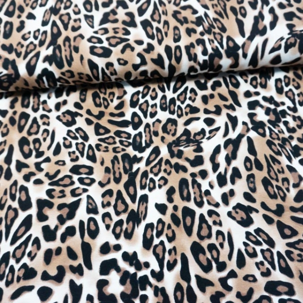 Viskosejersey Panther beige