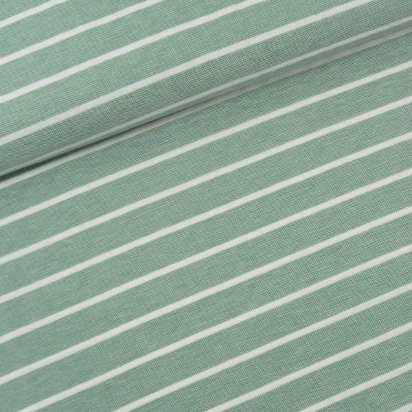 Baumwolljersey Polo Pique Streifen dusty mint