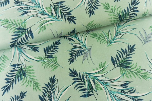 Gütermann Unique Jungle Leaves mint Öko Tex 100