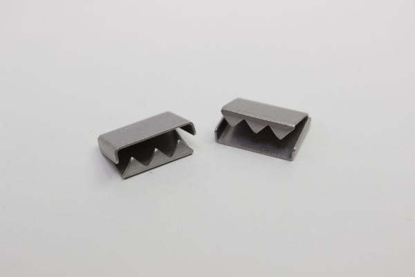 Kordelende silber für Hoodiekordel Flachkordel Metall