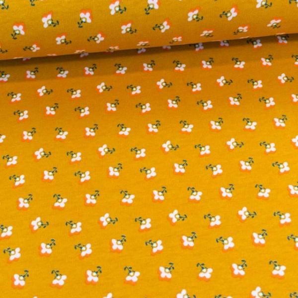 BIO Soft Sweat angeraut Little Flowers senf