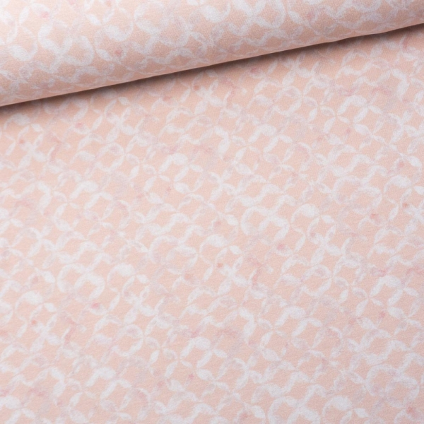 Viskosejersey Digital Aquarell Buttons rosa
