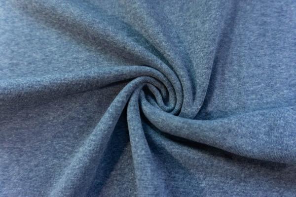 Bündchen Feinstrick MELIERT jeansblau -hohe Sprungkraft- Ökotex 100