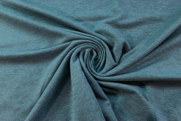 Organic Sweat BLACKMELIERT jeansblau unangeraut - French Terry Ökotex 100