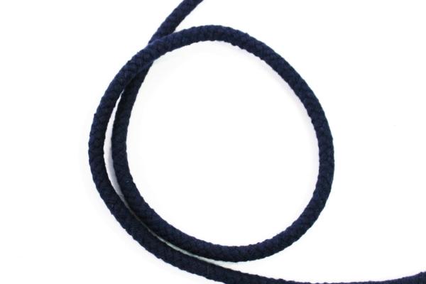 8mm Kordel geflochten navy Baumwolle
