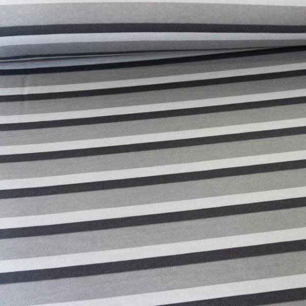 Sweat angeraut Streifen grau Ökotex 100