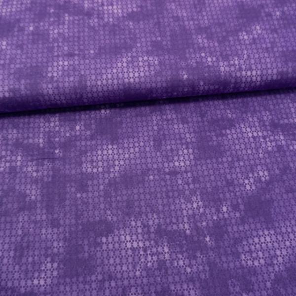 Baumwollwebware Punktefading lila