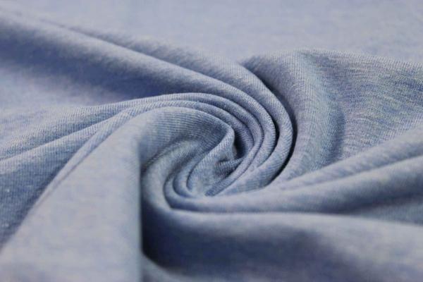 Organic Baumwolljersey MELIERT blau Ökotex 100
