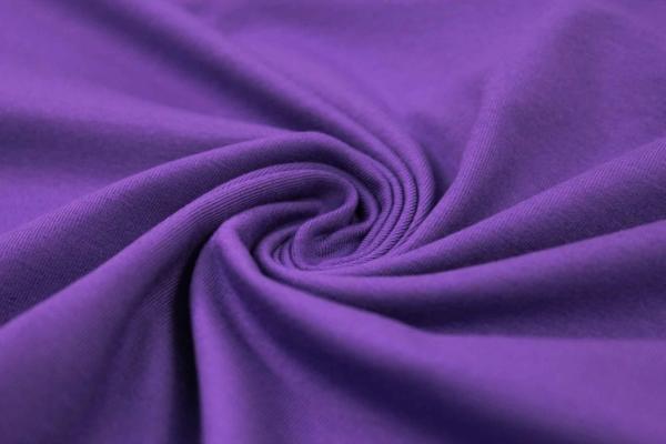 Organic Baumwolljersey Uni violet Ökotex 100