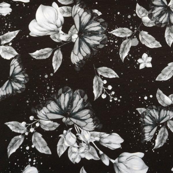 Bio-Baumwolljersey Lovely Butterfly schwarz