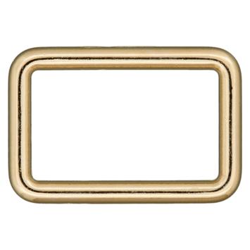 Rechteck-Ring gold 25mm