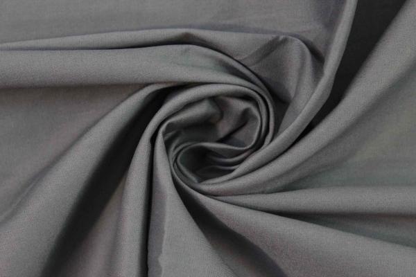 Baumwolle Poplin Stretch Uni knitterarm anthra Ökotex 100