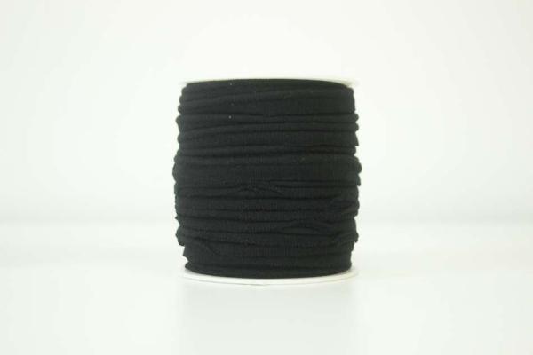 Jersey Paspelband schwarz elastisch