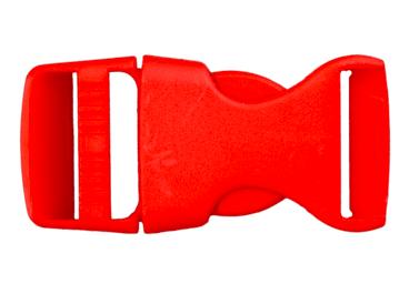 Rucksackschließe rot 25mm Kunststoff